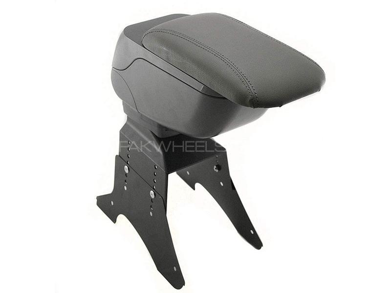 Universal Sliding Arm Rest Console Box - Grey  in Karachi