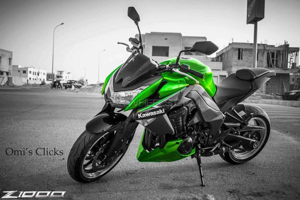 Kawasaki Z1000 - 2013 Green Hulk Image-1