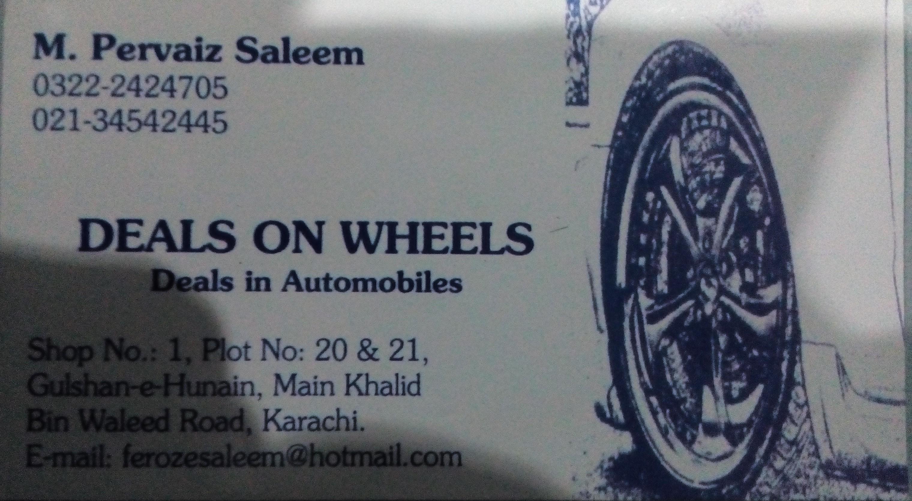 Deals On Wheels Used Car Dealer in Karachi | PakWheels
